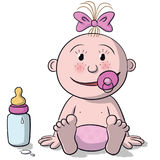 Illustration of newborn baby Royalty Free Stock Images