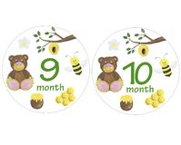 Newborn baby stickers for months watercolor illustration photo session design stickers scrapbooking greeting cards invitations hol. Illustration Newborn baby vector illustration