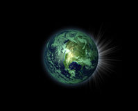 Illustration of a nice green planet Stock Photo