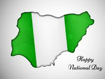 Illustration of Nigeria National Day background. Illustration of elements of Nigeria National Day background Stock Image