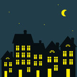 Illustration of night city Stock Images