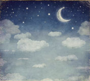 Illustration of a night sky Royalty Free Stock Image