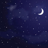 Illustration of night sky. Stock Images