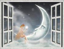Illustration of a night Stock Photos