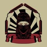 Illustration of  ninja head Stock Photography