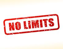 No limits text buffered. Illustration of no limits text buffered on white background Royalty Free Stock Images