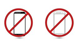 Off Mobile Sign Switch Off Phone Icon Mobile Warning Symbol. Illustration of no mobile use icon logo sign cellphone is not allowed and prohibited to use Royalty Free Stock Photography