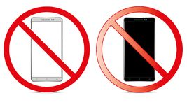 Off Mobile Sign Switch Off Phone Icon No Phone Allowed Mobile Warning Symbol. Illustration of no mobile use icon logo sign cellphone is not allowed and Royalty Free Stock Image