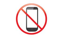 Off Mobile Sign Switch Off Phone Icon No Phone Allowed Mobile Warning Symbol. Illustration of no mobile use icon logo sign cellphone is not allowed and vector illustration