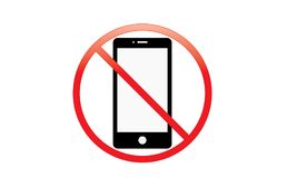 Off Mobile Sign Switch Off Phone Icon No Phone Allowed Mobile Warning Symbol. Illustration of no mobile use icon logo sign cellphone is not allowed and royalty free illustration