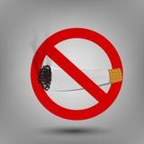 Illustration of no smoking sign Stock Photography