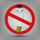 Illustration of no smoking Stock Image