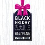 Illustration noire d'étiquette de vente de vendredi advertising illustration de vecteur