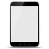 Illustration noire de vecteur de tablette Photographie stock libre de droits