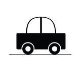 Illustration noire de vecteur de voiture Photographie stock