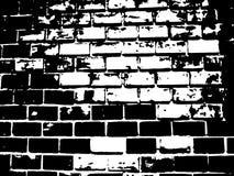 Illustration noire et blanche de brique Images stock
