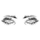 Illustration noire et blanche de mode avec l'oeil Photo libre de droits