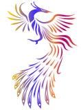 Illustration noire et blanche de Phoenix Photos libres de droits