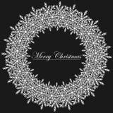 Illustration noire et blanche de trame de Noël. illustration libre de droits