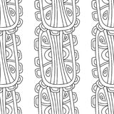 Illustration noire et blanche pour livre de coloriage, page Configuration sans joint décorative abstraite Photos libres de droits