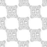 Illustration noire et blanche pour livre de coloriage, page Configuration sans joint décorative abstraite Images stock