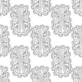 Illustration noire et blanche pour livre de coloriage, page Configuration sans joint décorative abstraite Images libres de droits