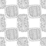 Illustration noire et blanche pour livre de coloriage, page Configuration sans joint décorative abstraite Image libre de droits
