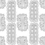 Illustration noire et blanche pour livre de coloriage, page Configuration sans joint décorative abstraite Photographie stock libre de droits