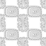 Illustration noire et blanche pour livre de coloriage, page Configuration sans joint décorative abstraite Photographie stock