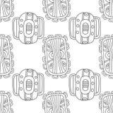 Illustration noire et blanche pour livre de coloriage, page Configuration sans joint décorative abstraite Photo libre de droits