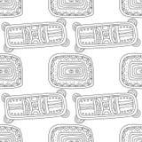Illustration noire et blanche pour livre de coloriage, page Configuration sans joint décorative abstraite Photo stock