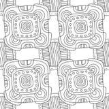 Illustration noire et blanche pour livre de coloriage, page Configuration sans joint décorative abstraite Photos stock