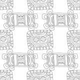 Illustration noire et blanche pour livre de coloriage, page Configuration sans joint décorative abstraite Image stock