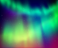 Illustration of northern lights Stock Photo