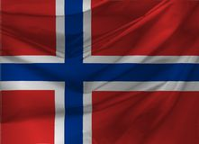 Illustration of Norway Wavy Flag Royalty Free Stock Photo