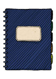Illustration of  notebook Royalty Free Stock Photography