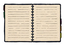 Illustration of  notebook Royalty Free Stock Images