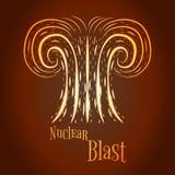Illustration nucléaire de vecteur de souffle de bande dessinée illustration stock