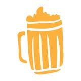 Illustration numérique d'icône de vecteur de bière pour vous illustration libre de droits