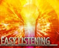 Illustration numérique de écoute facile de concept abstrait de musc Photos libres de droits