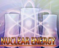 Illustration numérique de concept d'abrégé sur énergie nucléaire Photo stock