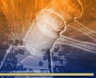 Illustration numérique de concept d'abrégé sur audition juridique Image libre de droits