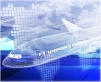 Illustration numérique de concept d'abrégé sur avion de transports aériens Image libre de droits