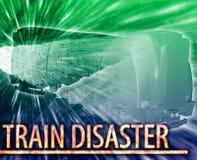 Illustration numérique de concept d'abrégé sur catastrophe de train Photographie stock