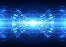 Illustration numérique de fond de technologie de vecteur abstrait future illustration de vecteur