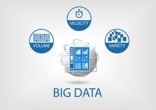 Illustration numérique de tableau de bord d'analytics de grandes données illustration de vecteur