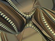 Illustration numérique futuriste de fractale de l'art 3d - regardez dans l'infini illustration libre de droits