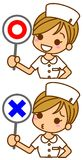 Illustration of nurse Royalty Free Stock Photography