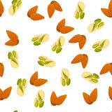 Illustration of nuts Stock Photography
