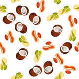 Illustration of nuts Stock Images